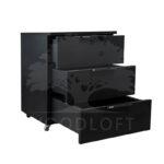 kontenerek czarny otwarte szuflady